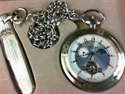 Beautiful JULES JURGENSEN Pocket Watch & Knife Set 17 Jewel Mvmnt VINTAGE WATCH